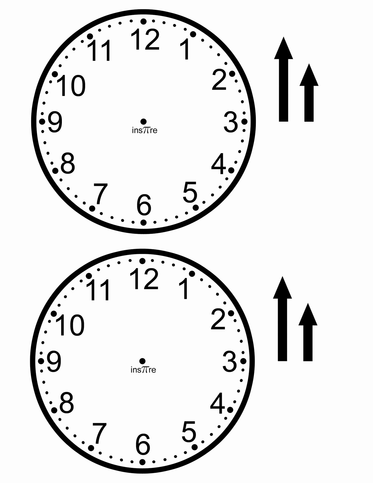 Clock In Clock Out Template Elegant Clock Face Templates for Easy Learning