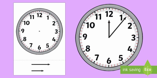 Clock In Clock Out Template Fresh Blank Analogue Cut Out Clocks with Hands Time Resource