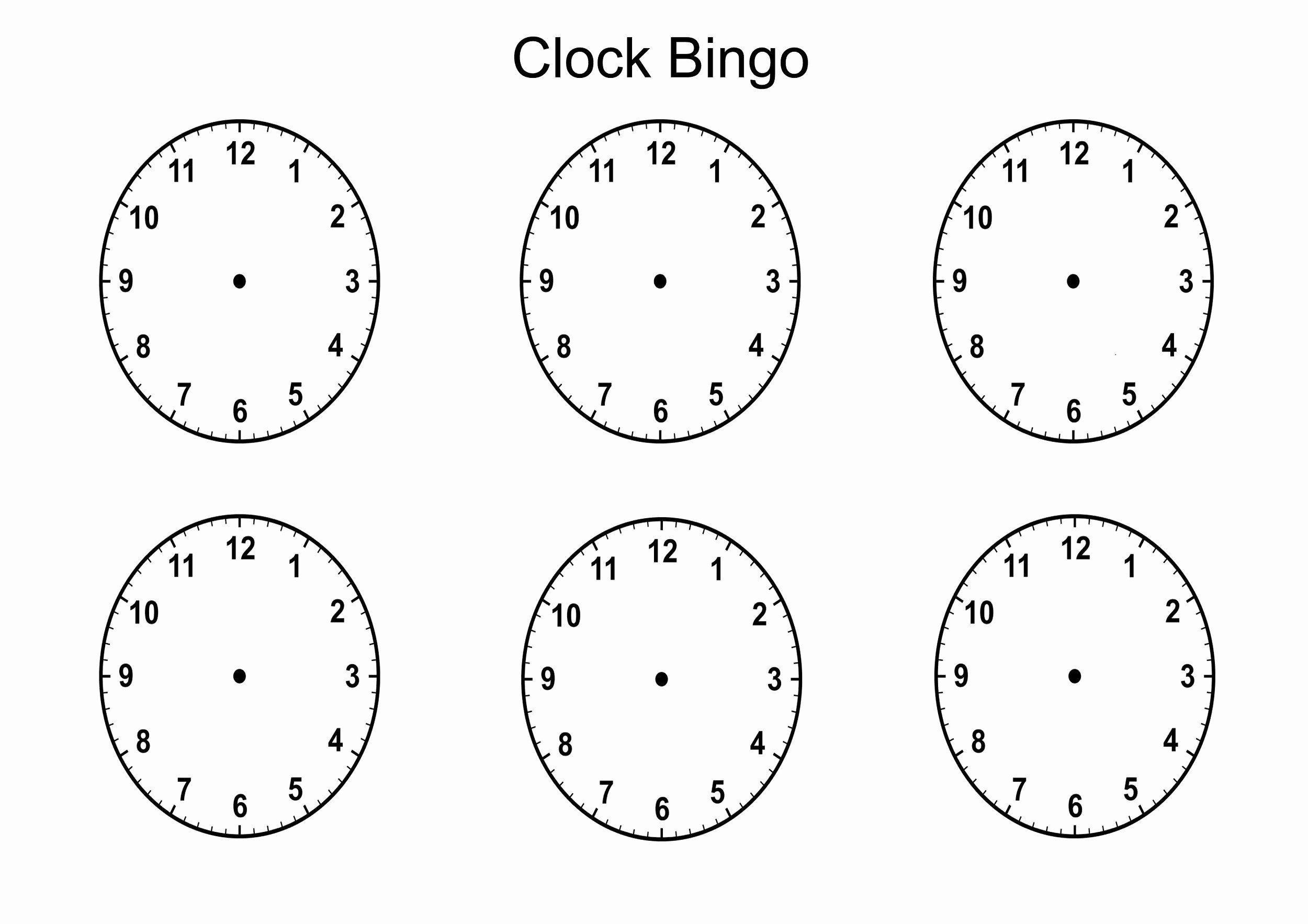 Clock In Clock Out Template Fresh Blank Clock Faces Templates