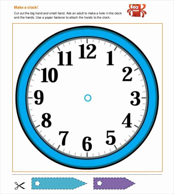 clock face template for paper plate