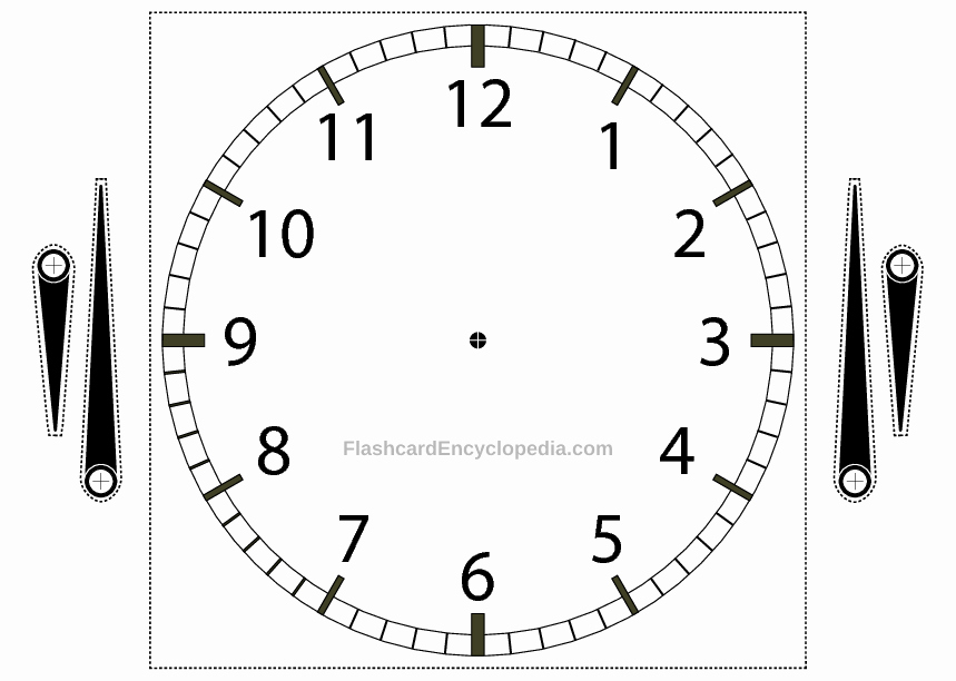 Clock In Clock Out Template Fresh Telling the Time Clock Flashcard with Adjustable Hands