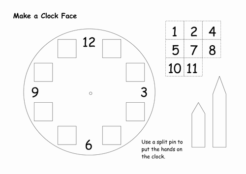 Clock In Clock Out Template Inspirational Clock Face Template by Bagpussfan Teaching Resources Tes