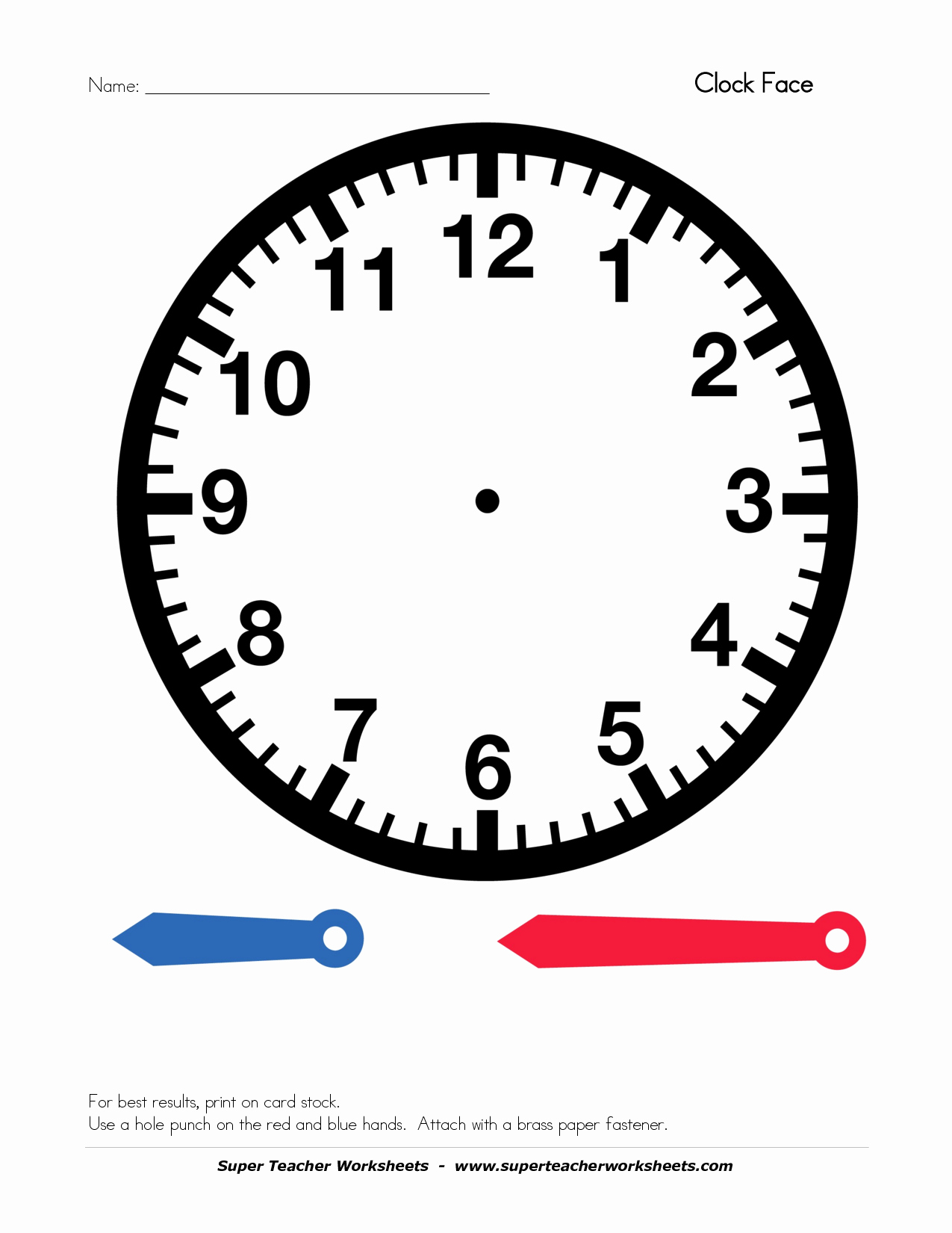 Clock In Clock Out Template New Best S Of Clock Face Template with Hands Blank