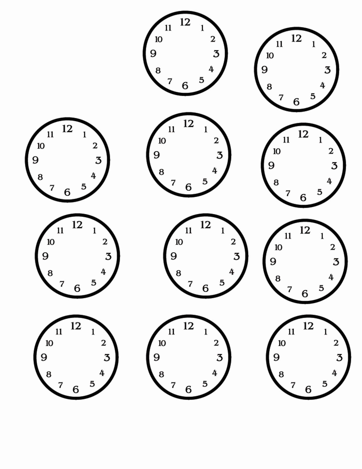 Clock In Clock Out Template Unique Blank Clock Faces Printable