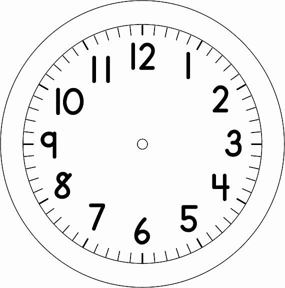 Clock In Clock Out Template Unique Reloj Dibujalia Dibujos Para Colorear Profes