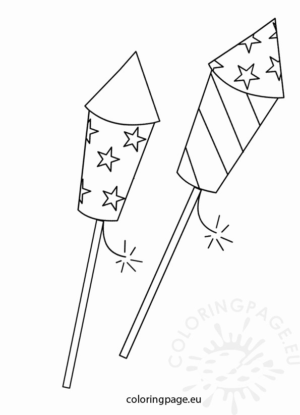 Closed 4th Of July Template Awesome Fireworks Coloring Page