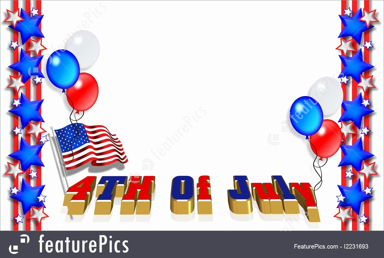 Closed 4th Of July Template Awesome Illustration 4th July Border