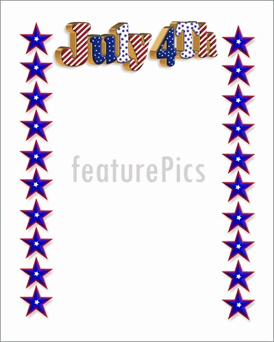 Closed 4th Of July Template Best Of 4th July Patriotic Border Illustration