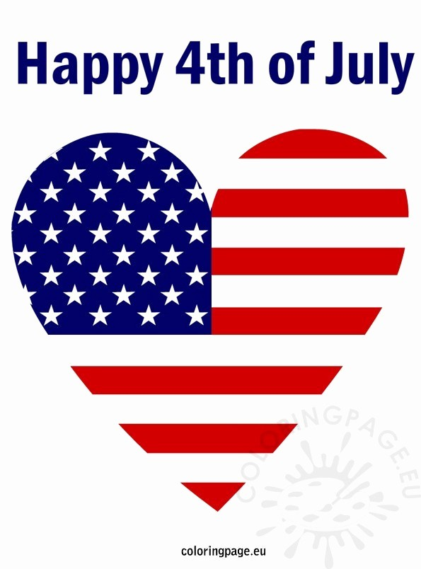 Closed 4th Of July Template Fresh 4th Of July Patriotic Heart