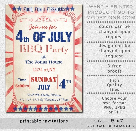 Closed 4th Of July Template Fresh Printable Rustic 4th Of July Party Invitation Templates