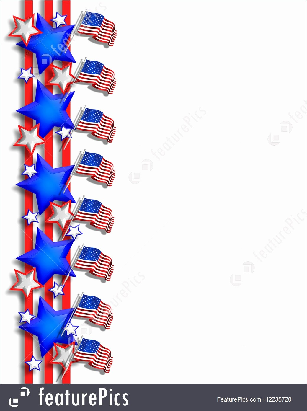 Closed 4th Of July Template Inspirational Patriotic Border July 4th Illustration