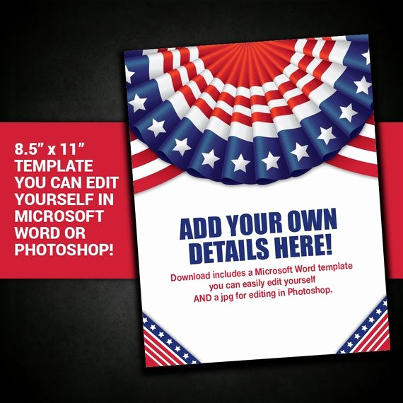 Closed 4th Of July Template Lovely Patriotic Flyer Border Frame United States Usa Template