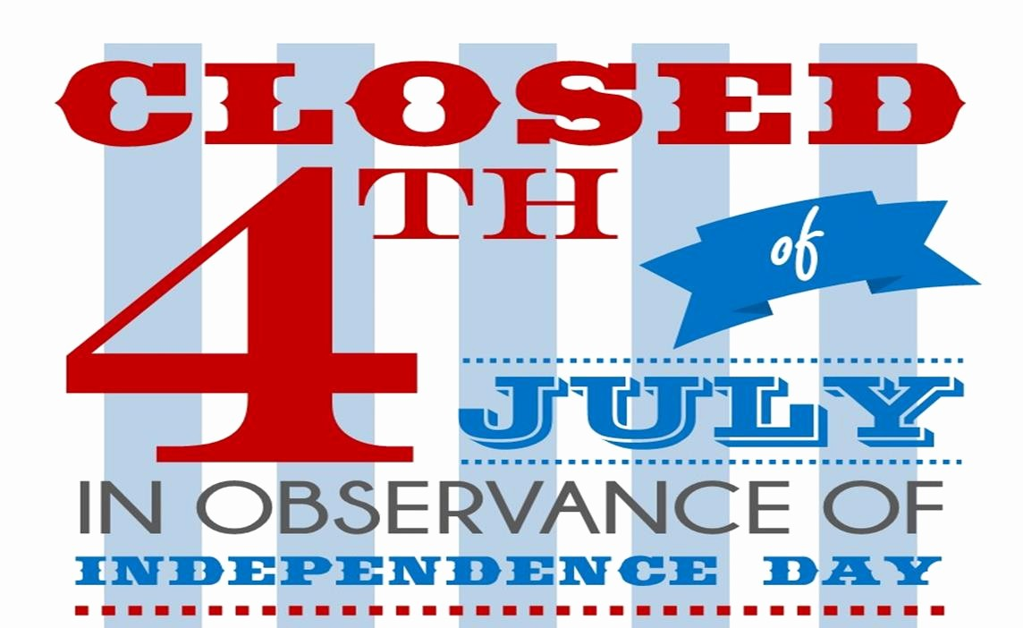 Closed 4th Of July Template Lovely tolleson Az Ficial Website