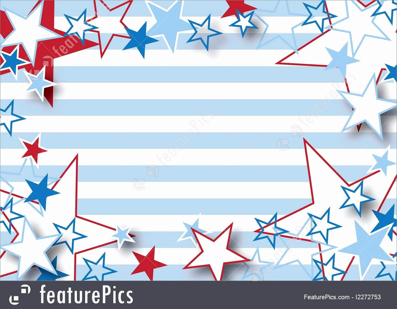 Closed 4th Of July Template Luxury Illustration Patriotic Stars and Stripes