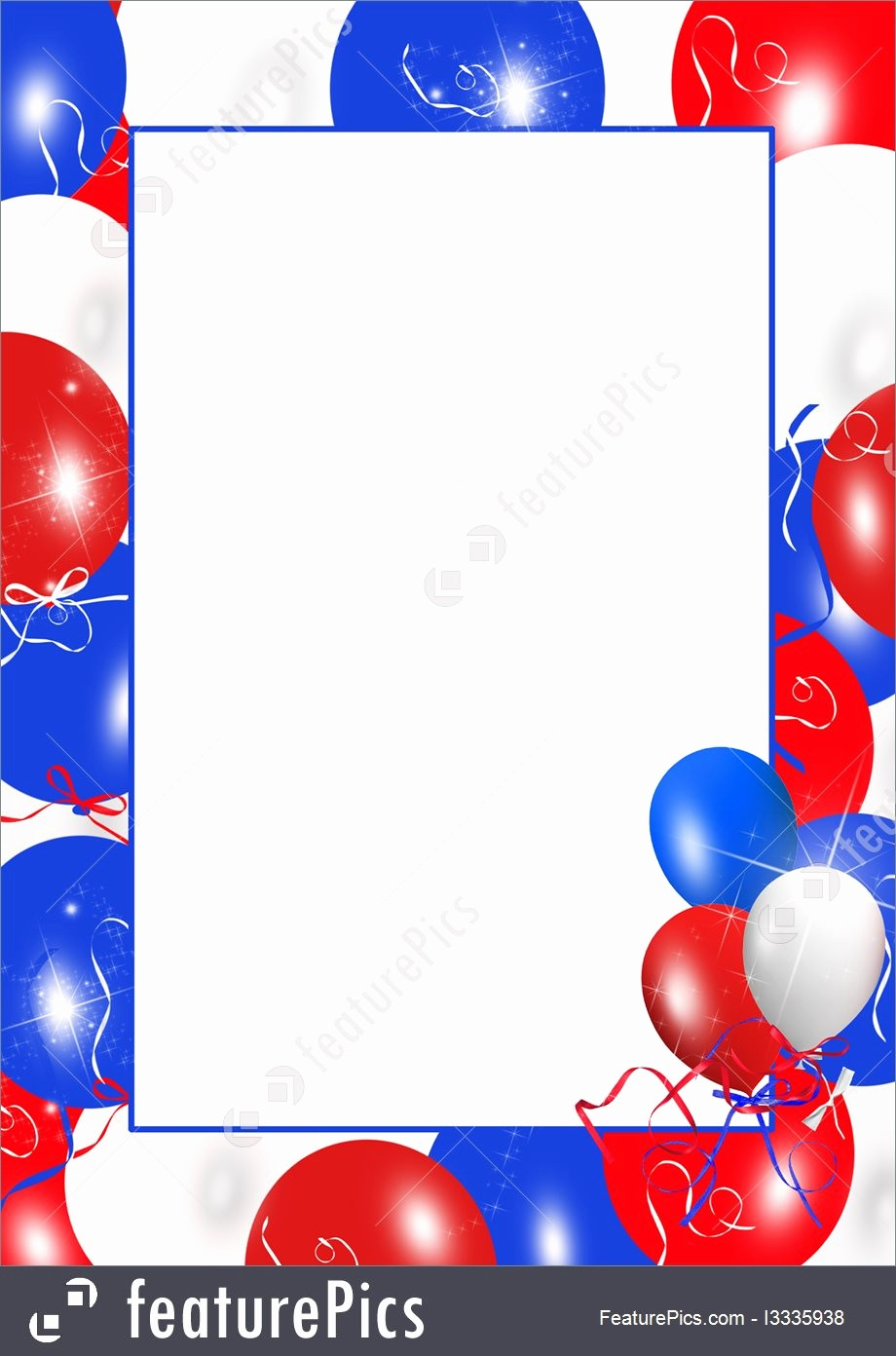 Closed 4th Of July Template Luxury Templates Patriotic Balloon Frame Stock Illustration