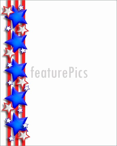 Closed 4th Of July Template Unique Illustration Patriotic Stars and Stripes Border