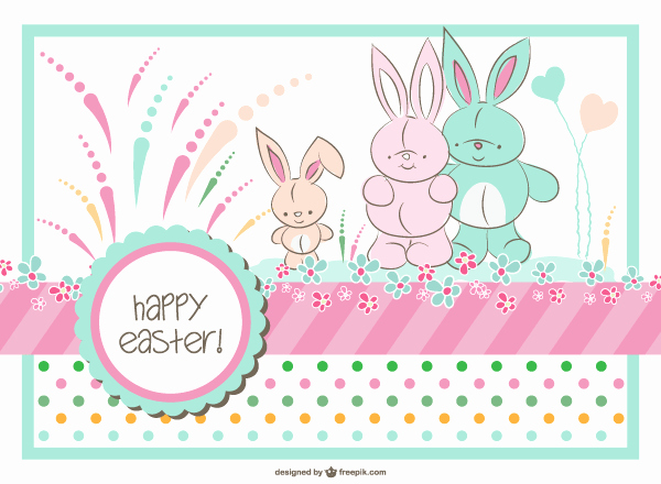 Closed for Easter Sign Template Awesome Easter Bunny Family Card Template