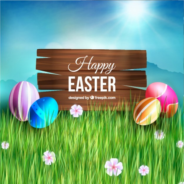 Closed for Easter Sign Template Awesome Wooden Sign and Easter Eggs Free Vector