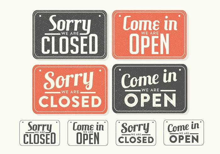 closed easter sign template