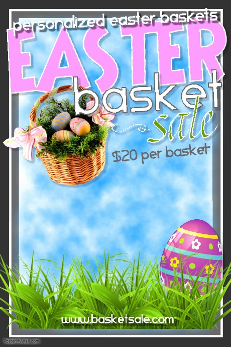 Closed for Easter Sign Template Luxury Copy Of Easter Basket Sale