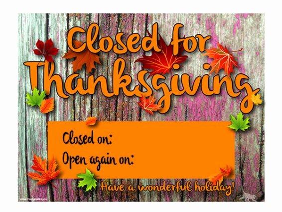 Closed for the Holiday Sign Lovely Creepy Monkey Closed for Thanksgiving Door or Window Sign