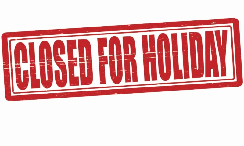 Closed for the Holiday Sign Luxury December 2016 Newsletter