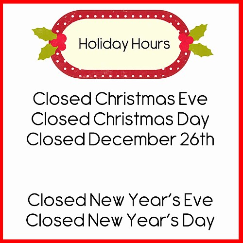 Closed for the Holiday Sign Luxury Doodlebugs December 2014