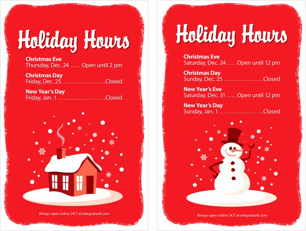 Closed for the Holiday Sign New Bank Holiday Hours Signs