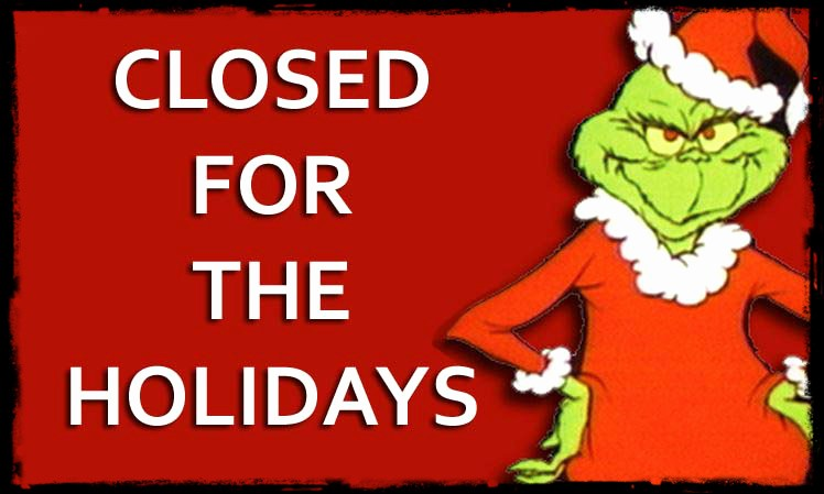 Closed for the Holiday Sign New Home Lombardi Middle