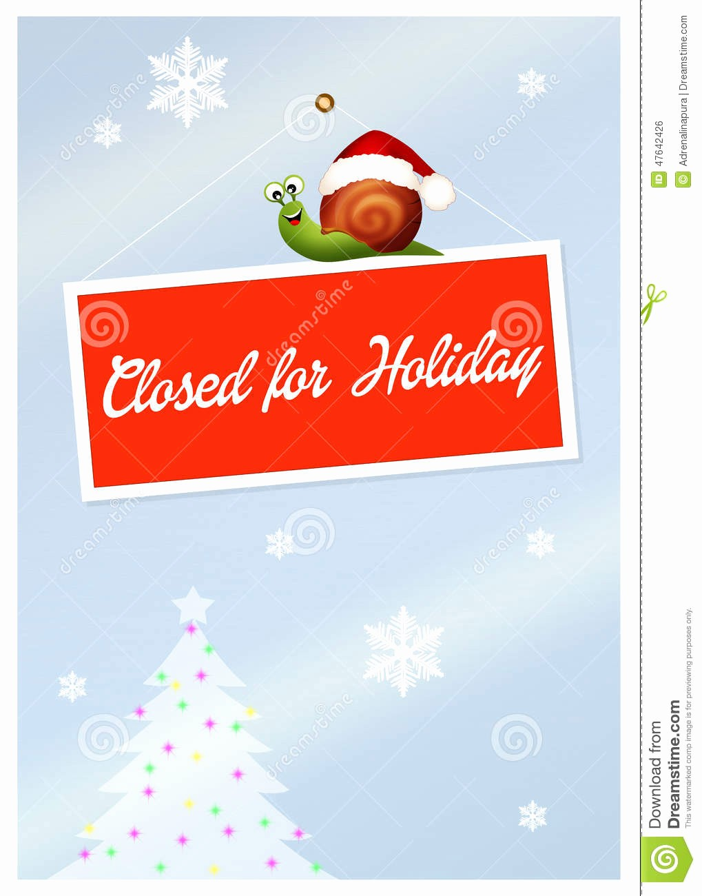 Closed for the Holidays Sign Beautiful Closed for Holidays Stock Illustration Image