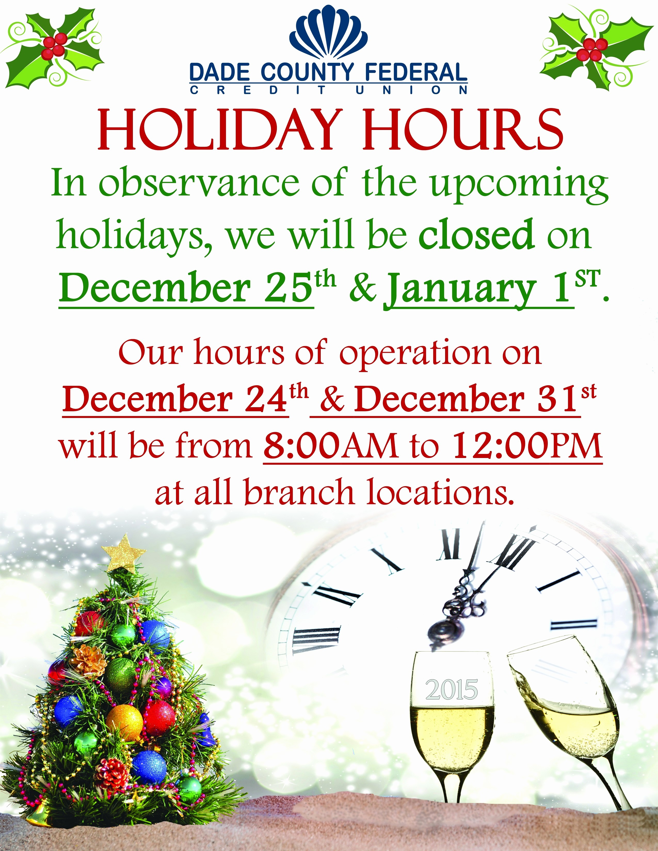 Closed for the Holidays Sign Fresh Holiday Hours Sign