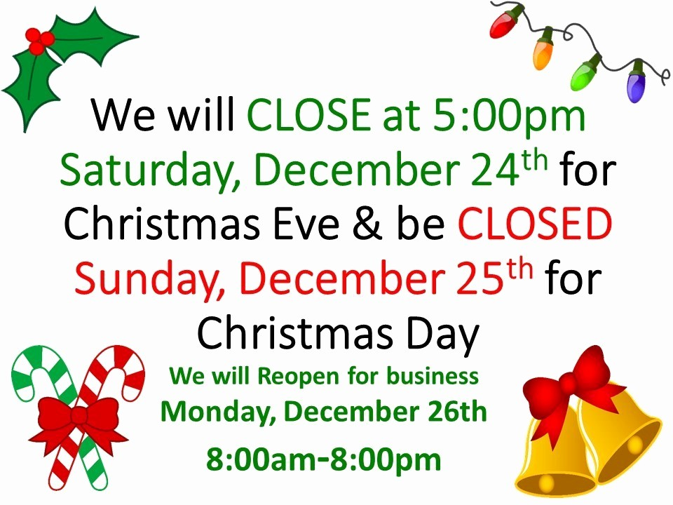 Closed for the Holidays Sign Fresh Merry Christmas From Farmer S Fresh Farmers Fresh Market