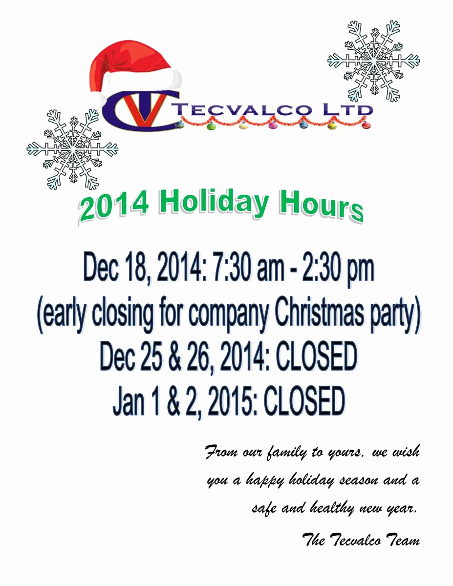 "Closed for the Holidays Sign Fresh Tecvalco Ltd On Twitter ""please Check Our Our Holiday"