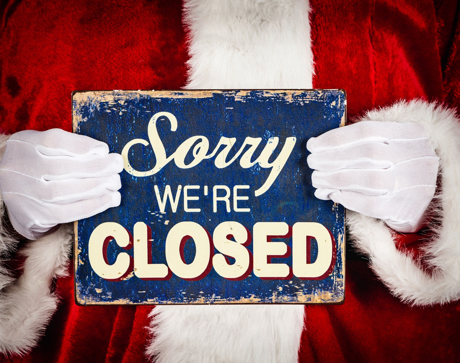 Closed for the Holidays Sign Inspirational istock