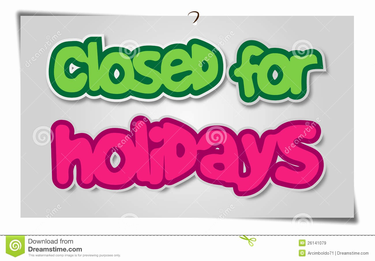 royalty free stock images closed holidays image