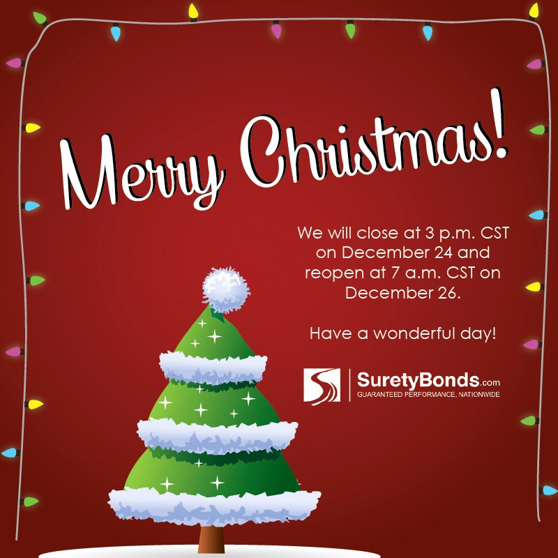 Closed for the Holidays Sign Luxury Happy Holidays From Suretybonds Our Office Closes at