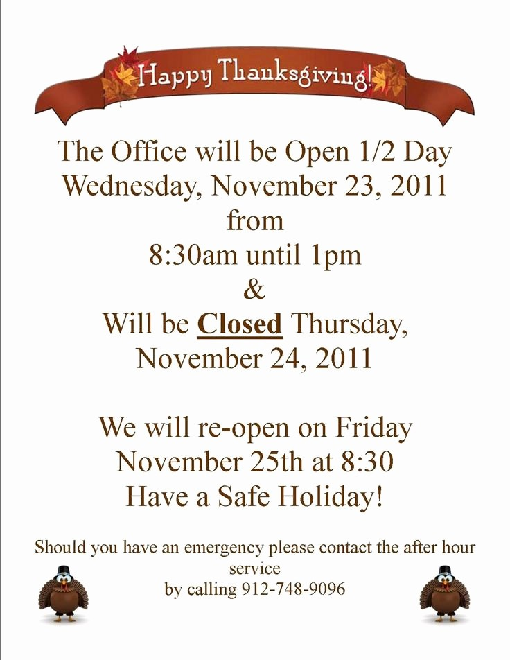Closed for the Holidays Sign New Closed for Thanksgiving Sign Templates – Happy Easter