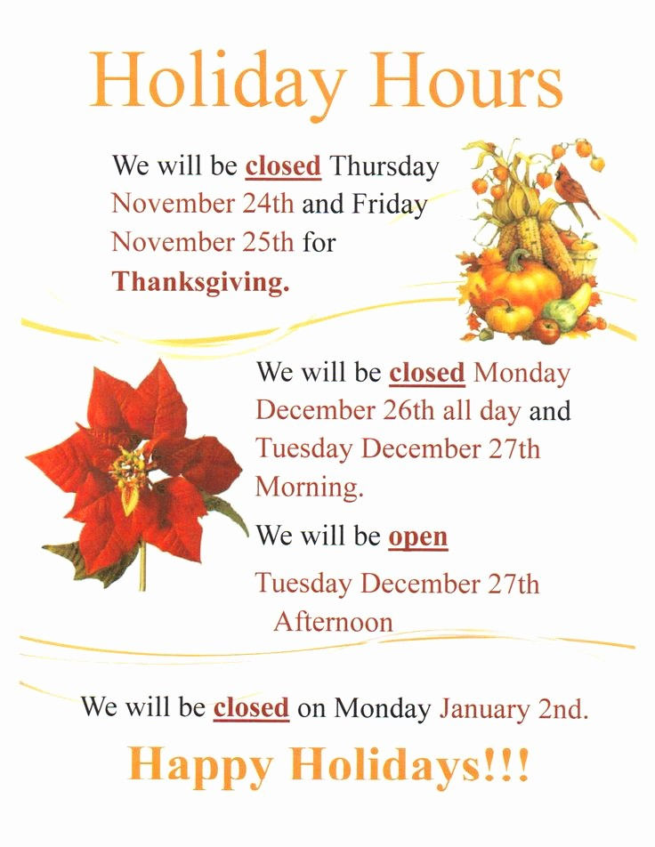 Closed for the Holidays Sign Unique 17 Best Images About Templates On Pinterest
