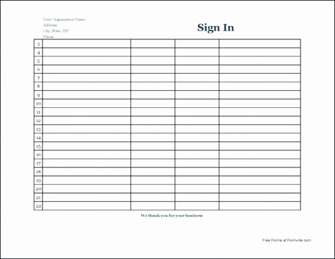 Club Sign In Sheet Template Awesome Templates for Sign In Sheets School Club Sign Up Sheet