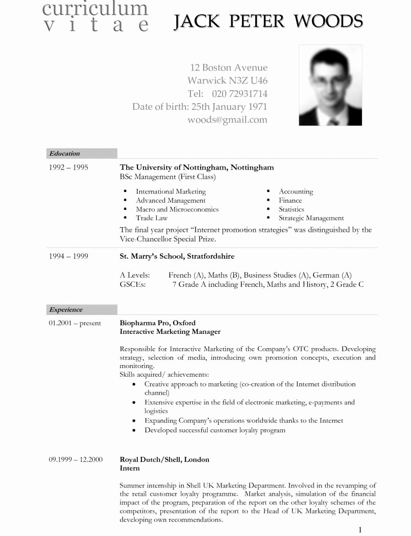 College Application Resume Template Word Awesome Academic Cv Sample Phdsume for College Application