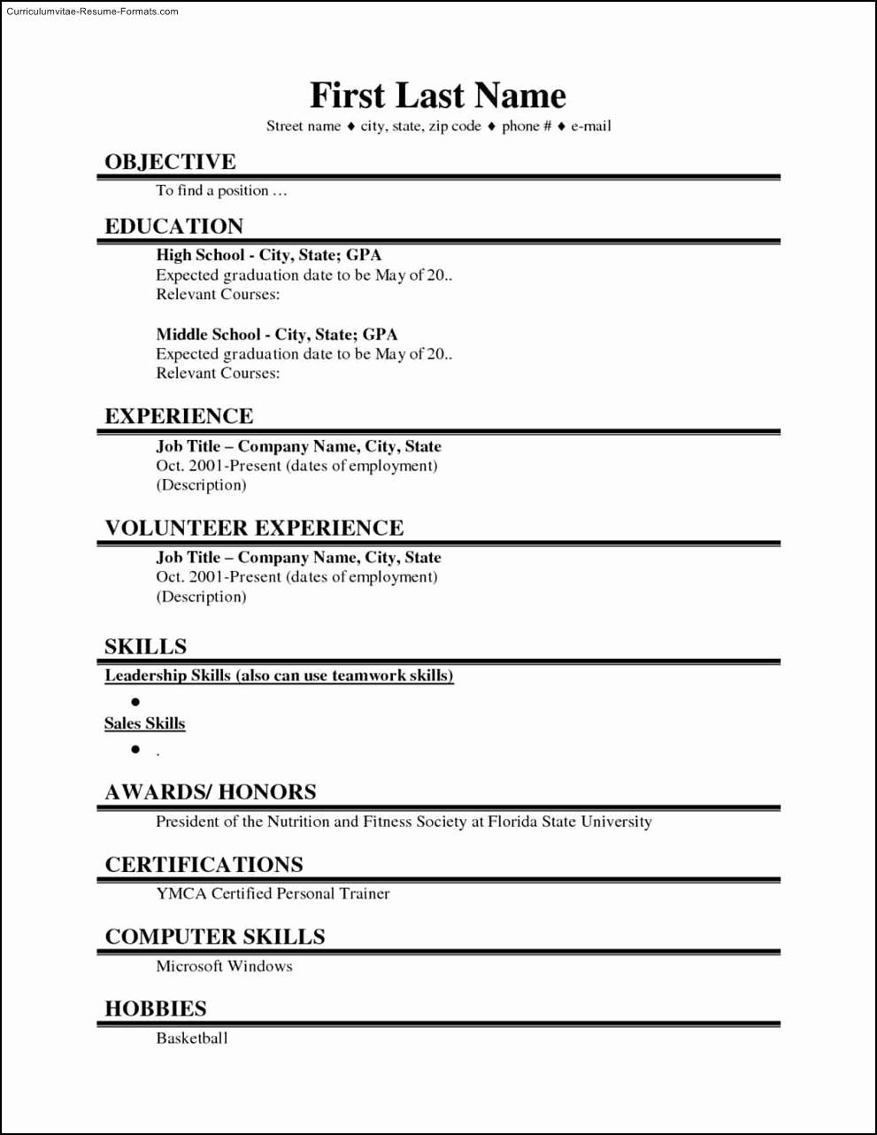 College Application Resume Template Word Inspirational College Student Resume Template Microsoft Word Free
