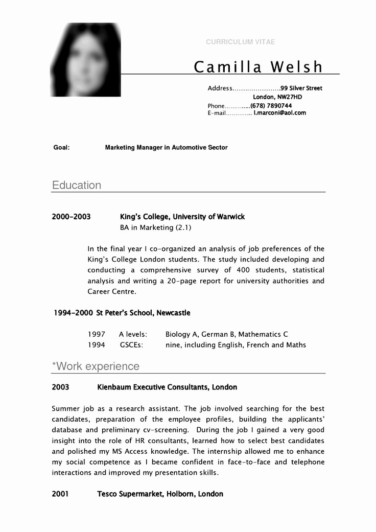 College Application Resume Template Word Lovely Cv Template University Student