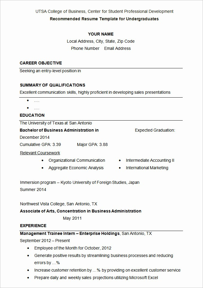 College Application Resume Template Word New 36 Student Resume Templates Pdf Doc