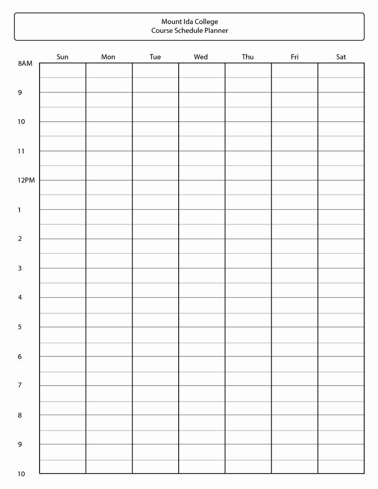 College Class Schedule Template Printable Beautiful Best 25 Schedule Templates Ideas On Pinterest