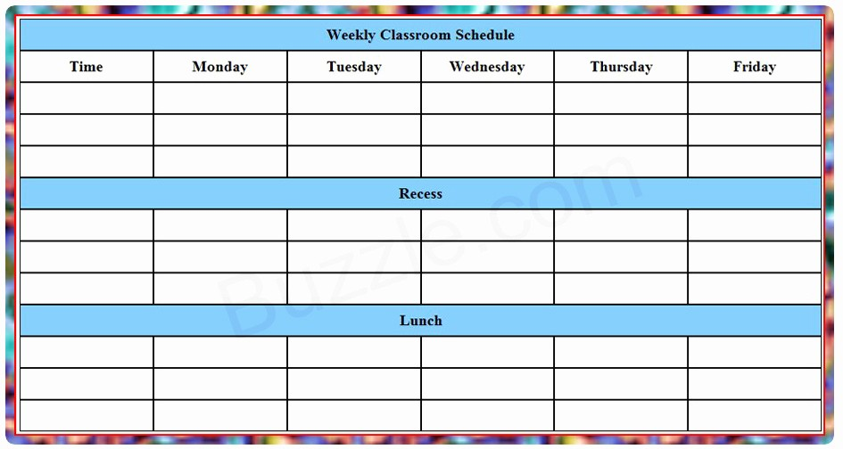 College Class Schedule Template Printable Inspirational Printable Weekly Class Schedule Template