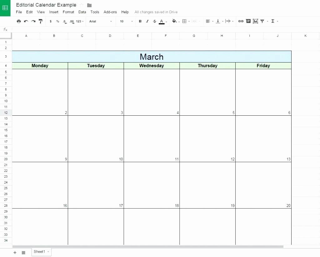 College Schedule Template Google Docs Elegant Editorial Calendar Template Google Docs