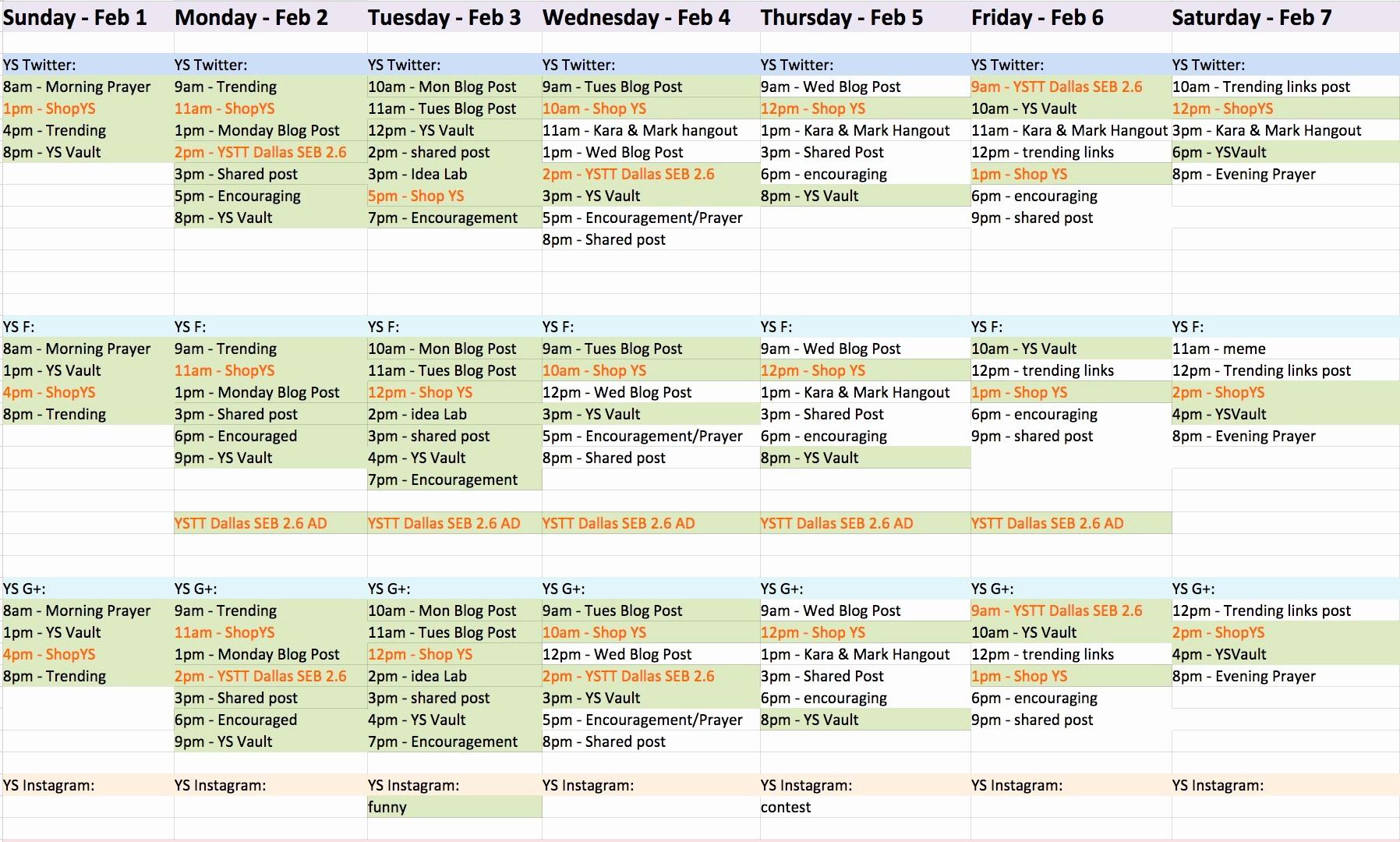 College Schedule Template Google Docs Fresh social Media Content Calendar Template Google Docs 2018