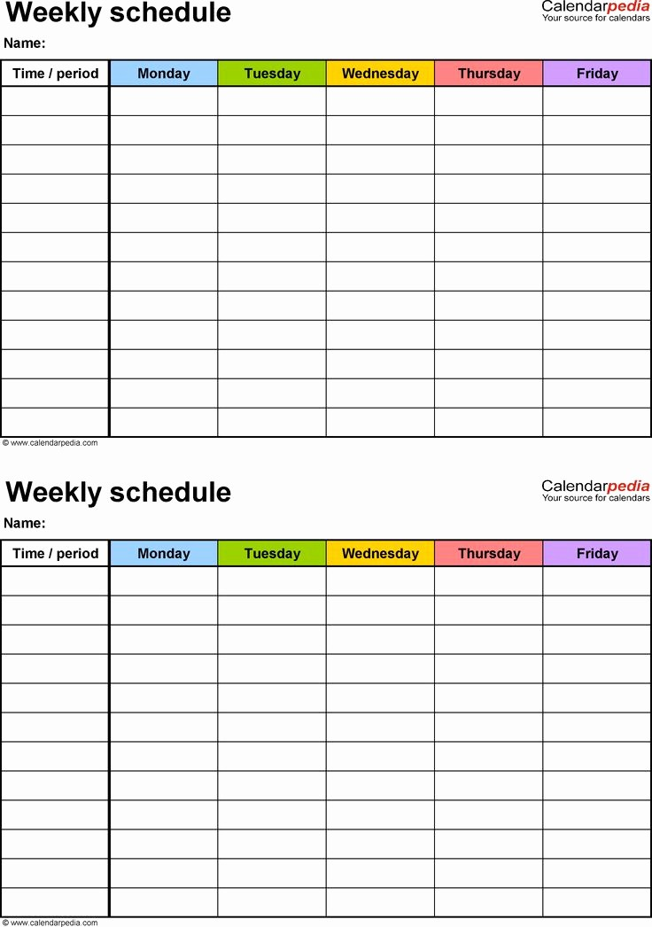 College Schedule Template Google Docs Luxury Weekly Schedule Template Google Docs