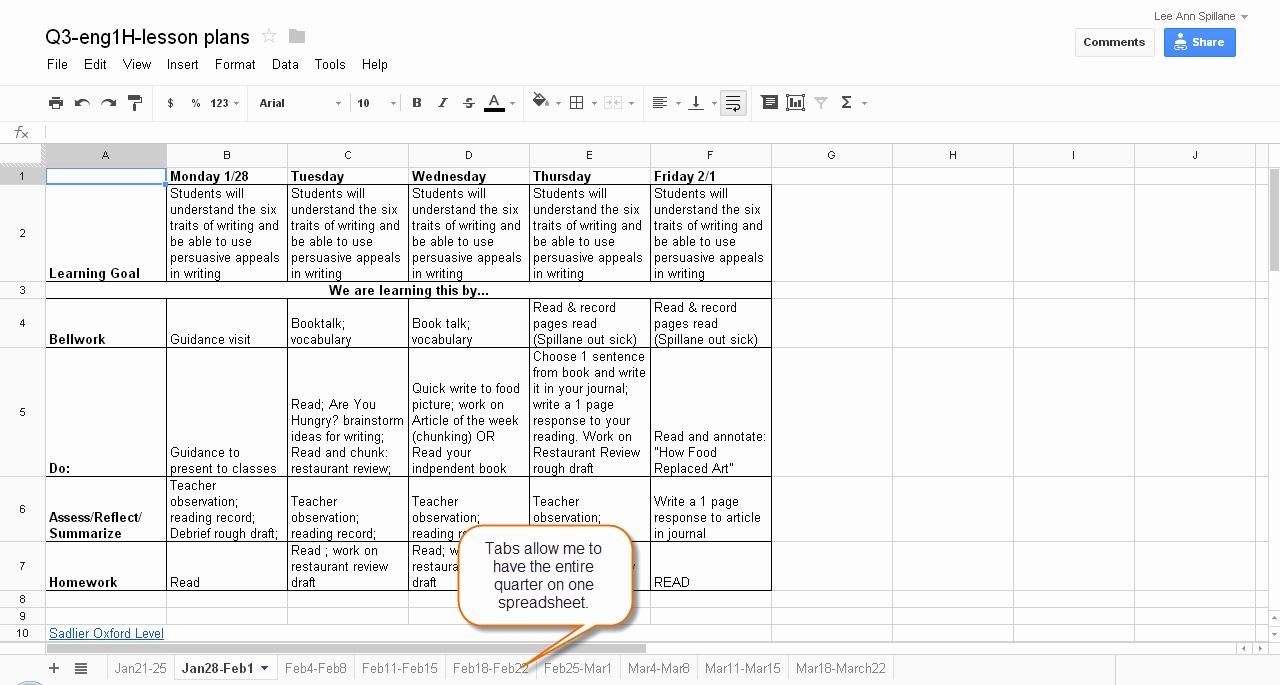 College Schedule Template Google Docs Unique Lesson Plan Template Google Docs