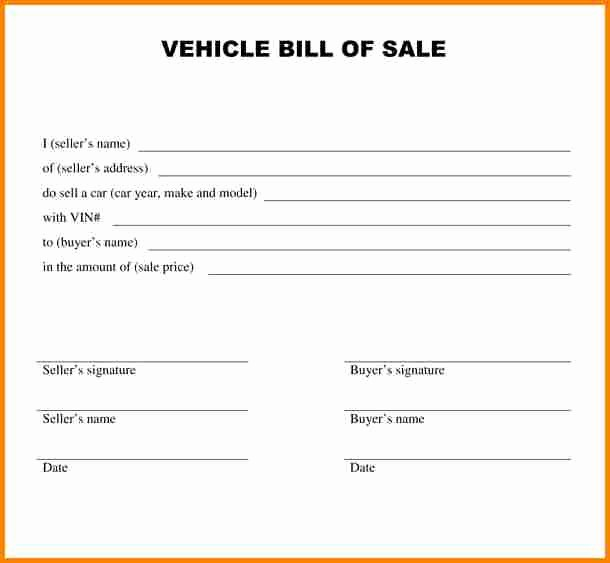Colorado Auto Bill Of Sale New 5 Bill Of Sale Alabama Car
